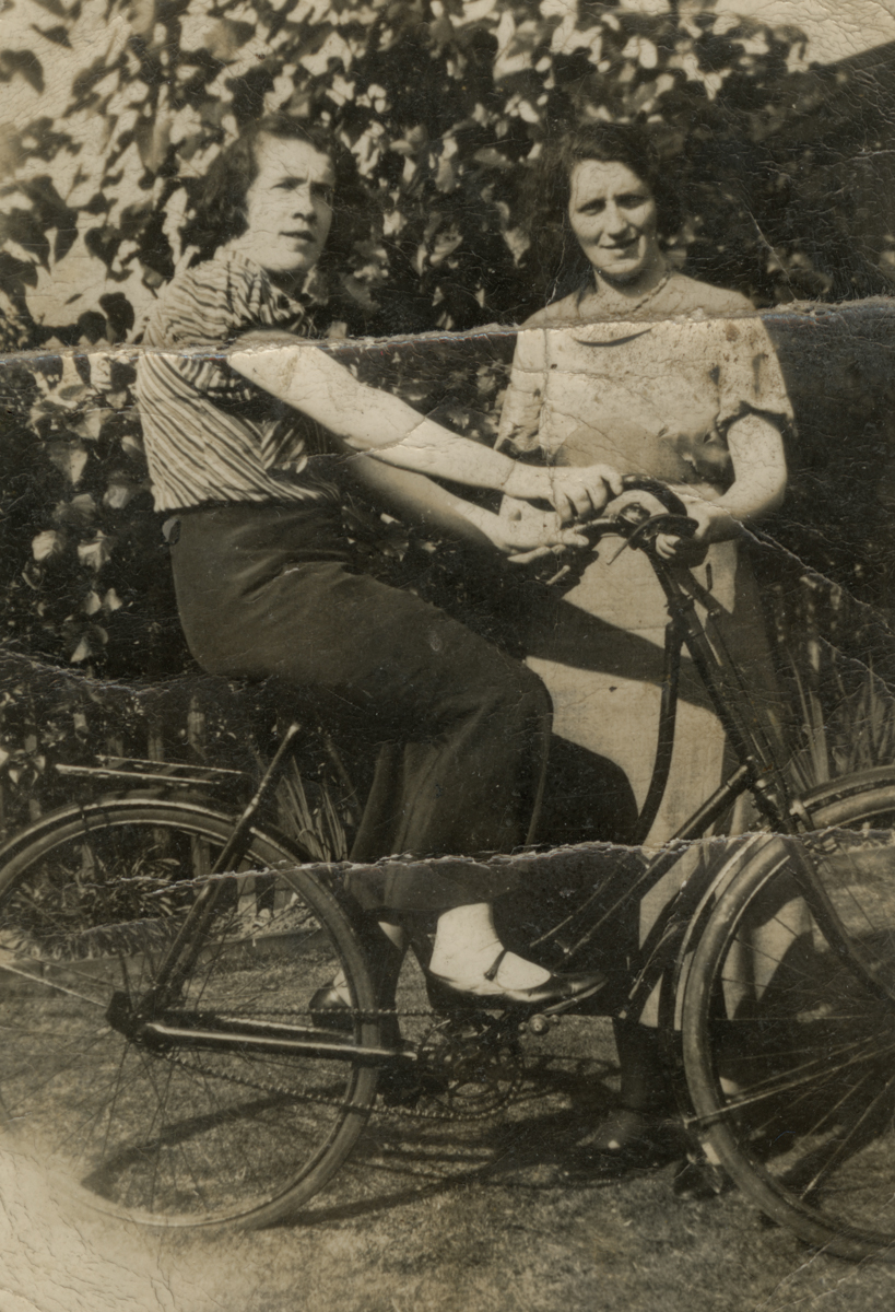 Clerkin // County Monaghan :: Two women with a bike