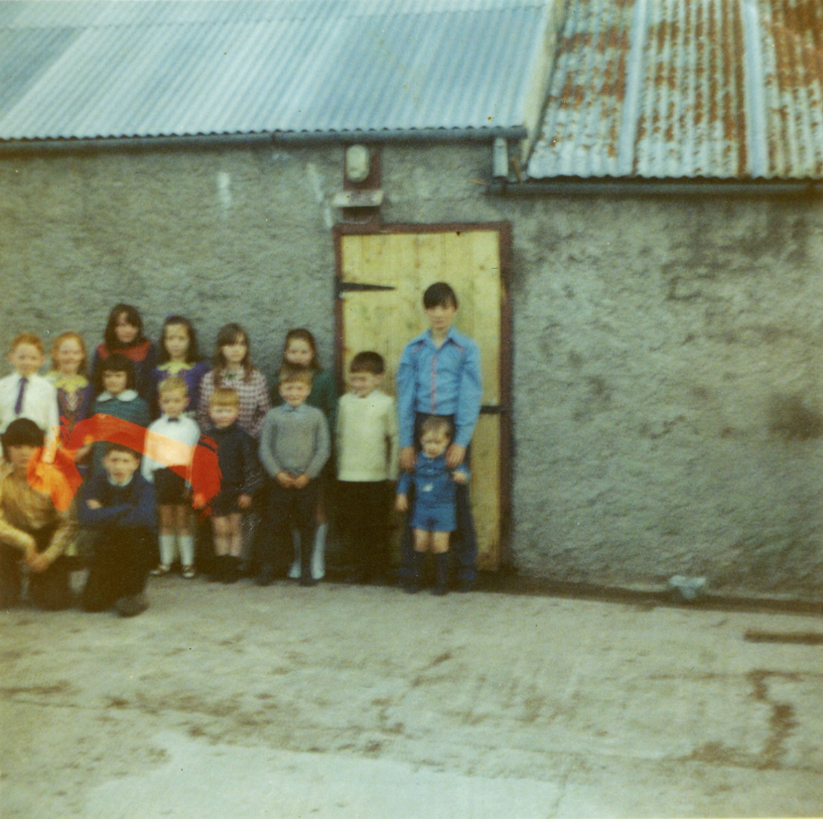 Conlon // County Monaghan :: Conlon children in farmyard, 1972