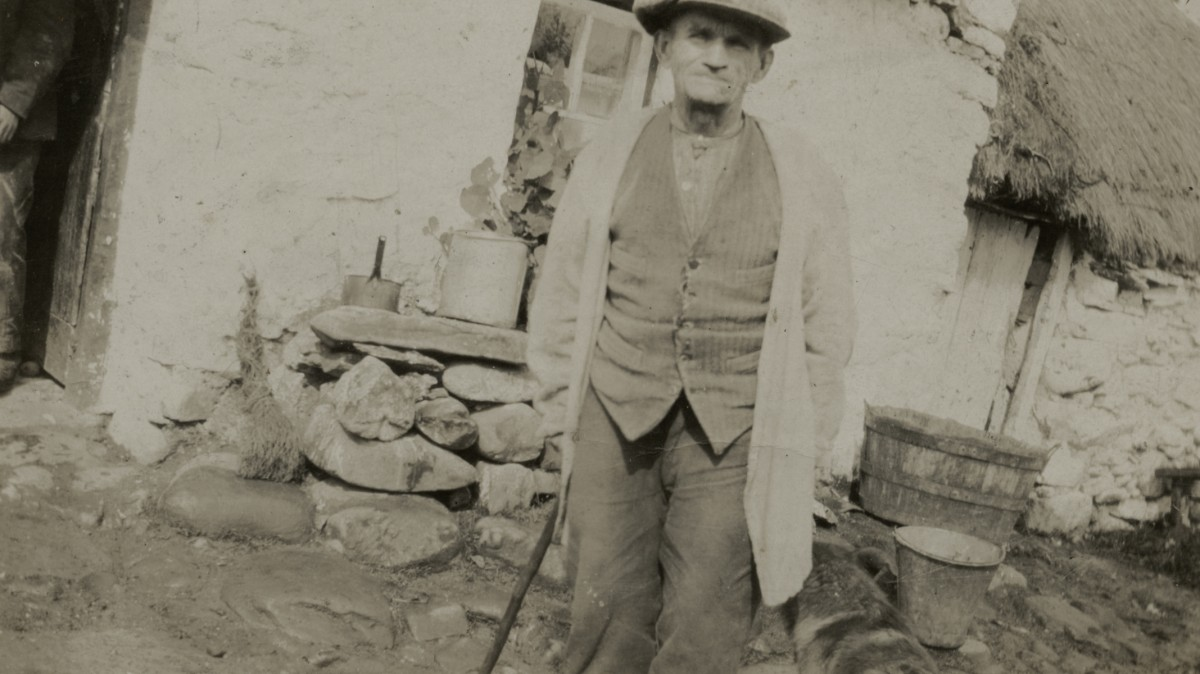 McGing // County Meath :: Philip McGing outside his home in Mayo