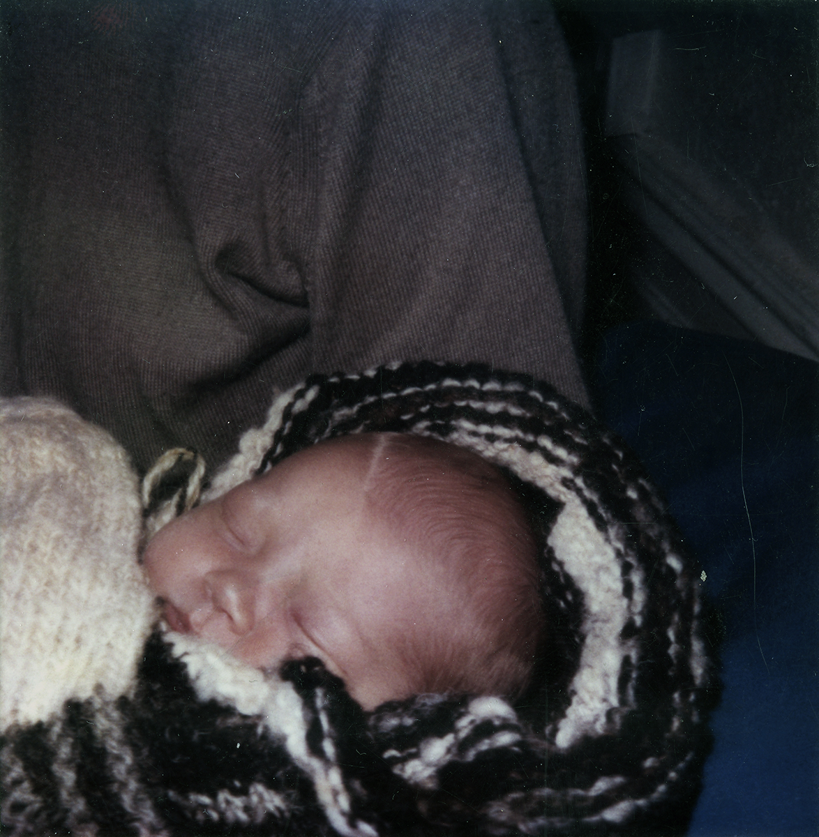 Wallis // County Clare :: Polaroid of newborn, 1987