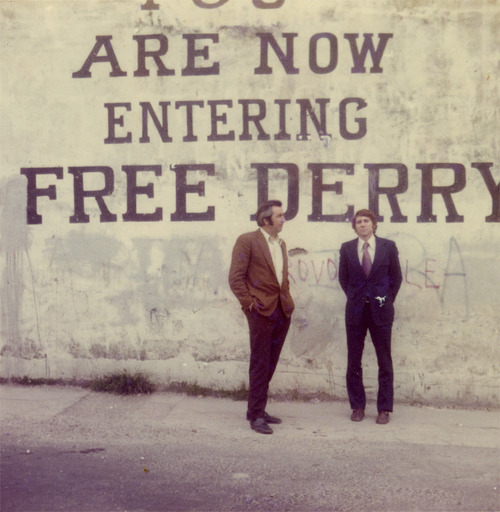 Conlon // County Monaghan :: Vincent Conlon and friend at Free Derry corner